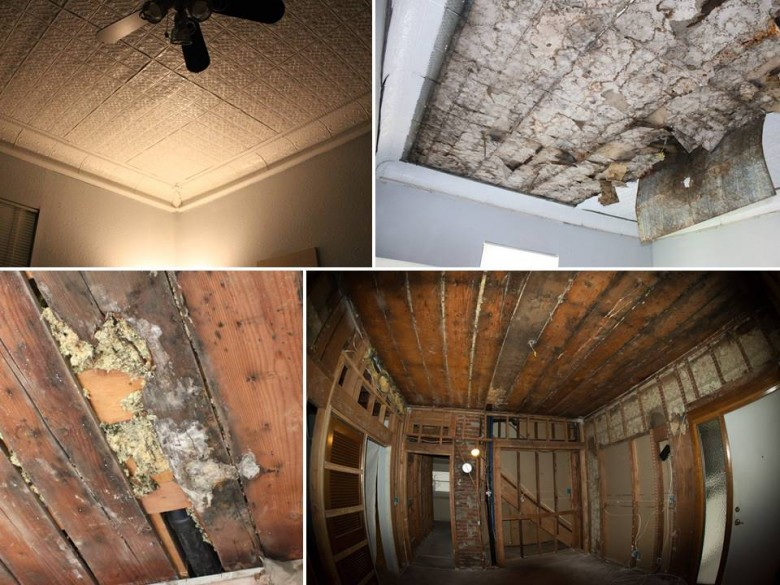 Living Room Ceiling Demolition