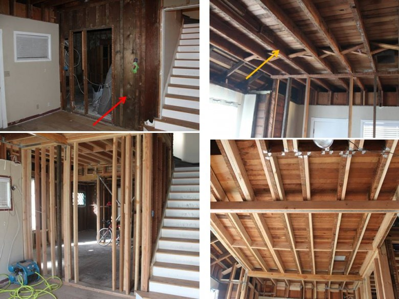 Replacing Improper Living Room Joists