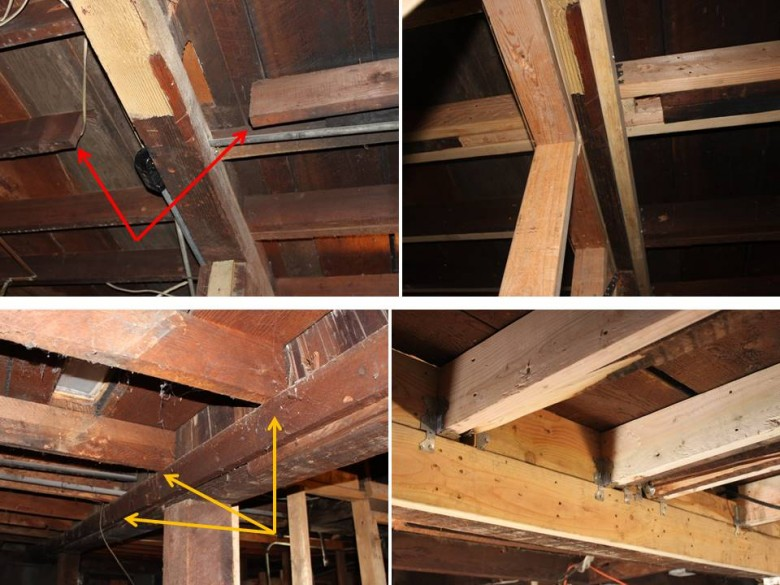 Basement Joists - Bad and Fixed 1