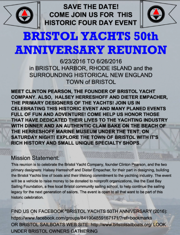 Bristol Yachts 50th Anniversary - Flyer