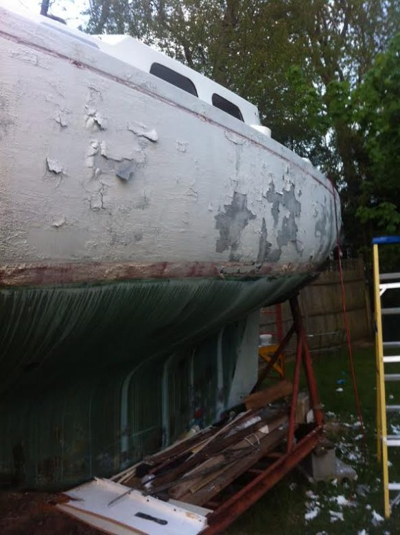 Hull Paint removal 2