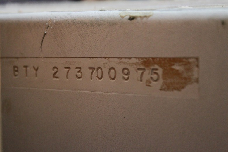 Here's the hull number itself. In plain English, my guess it reads 'Bristol Yachts 27. Hull #370. Built on (?) 09/1975