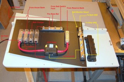 Example battery wiring on a  panel